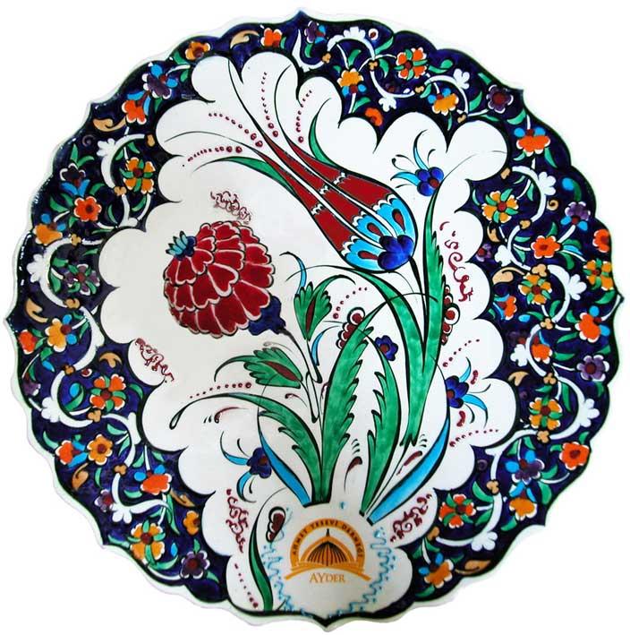 Logolu kutulu klasik hediyelik baskılı tabak