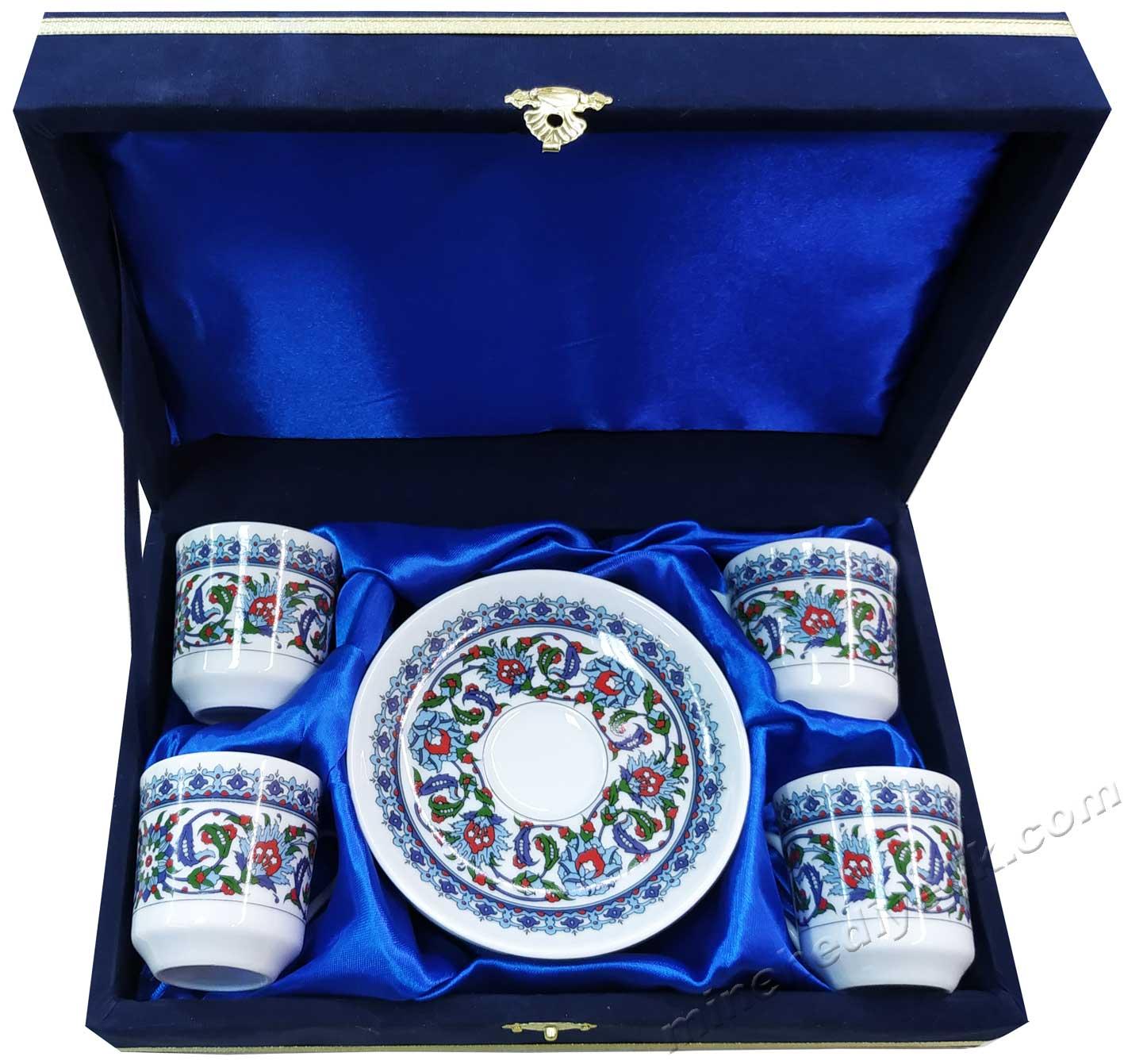 4 lü  Kişilik Kahve Fincan Takımları Hediyelik Dörtlü  Kutulu  Türk Kahvesi Fincan Seti Toptan Kurumsal Hediyelik Logo Baskılı  Fincan Takımı Setleri