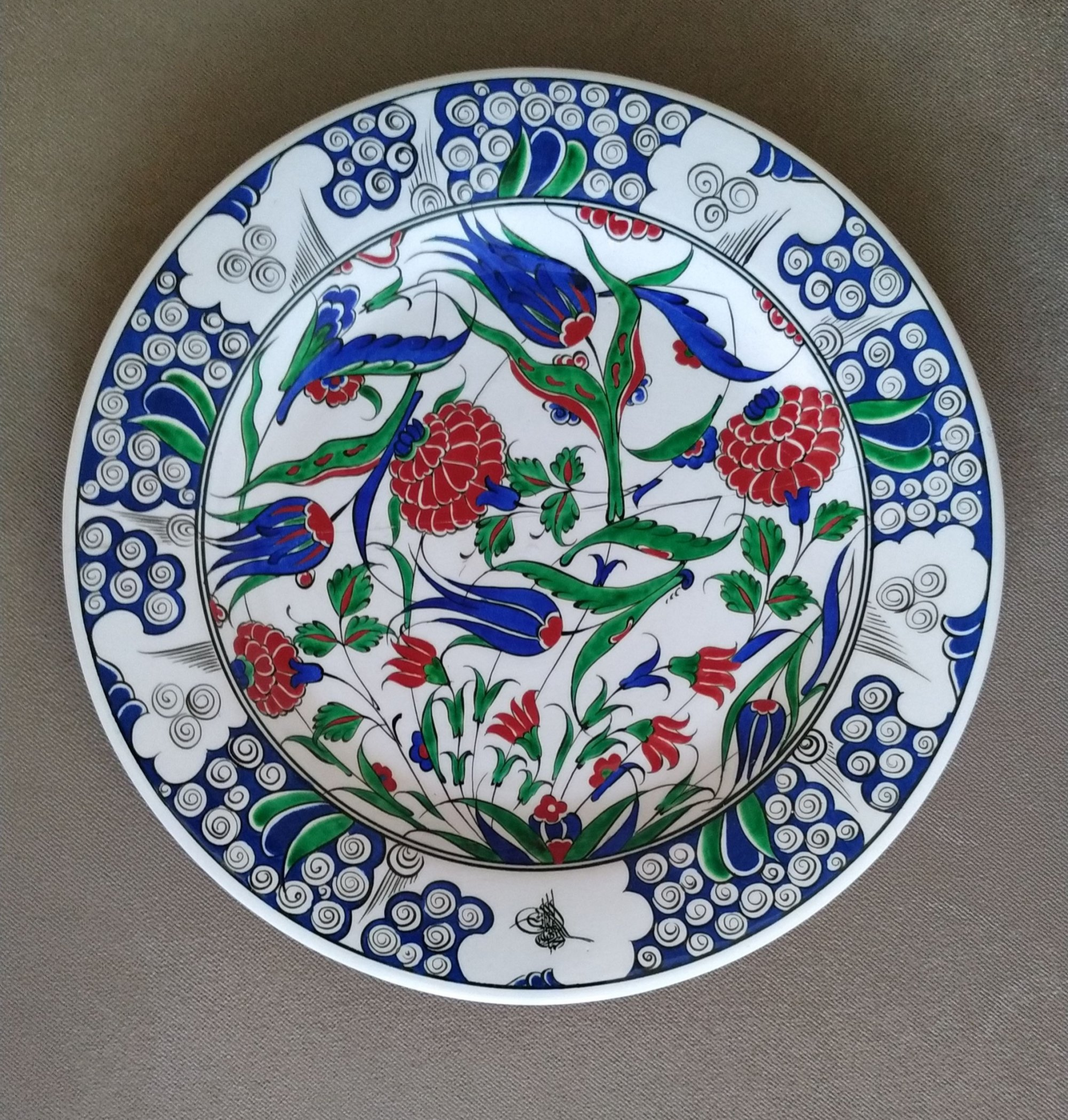 Klasik Replika Osmanlı Çini Tabaklar Türkiye Hatırası