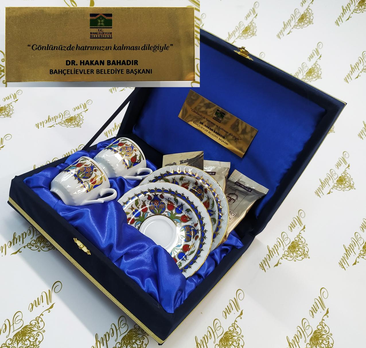 Nikah törenleri için kahve hediyeli kaliteli fincan setleri Bahçelievler Belediyesi