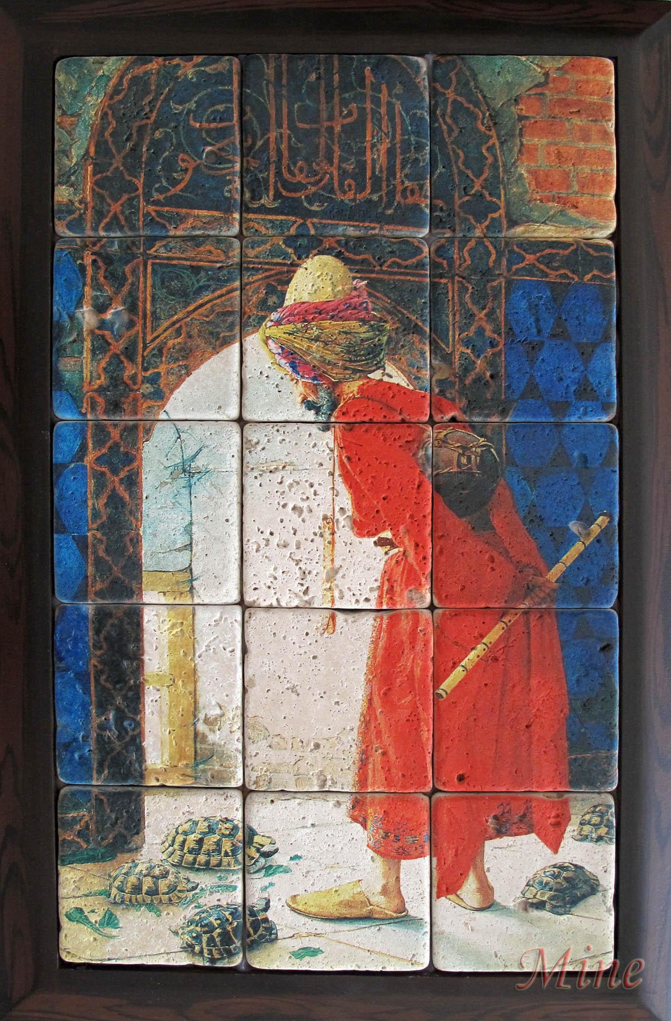 Pano ve Tablo olarak istenilen görseller dekoratif amaçlı doğal taş karolar
