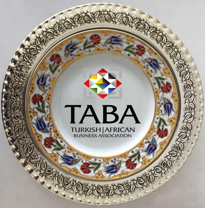 Gümüş plaket tabaklar çini desenli kurumsal plaket tabak