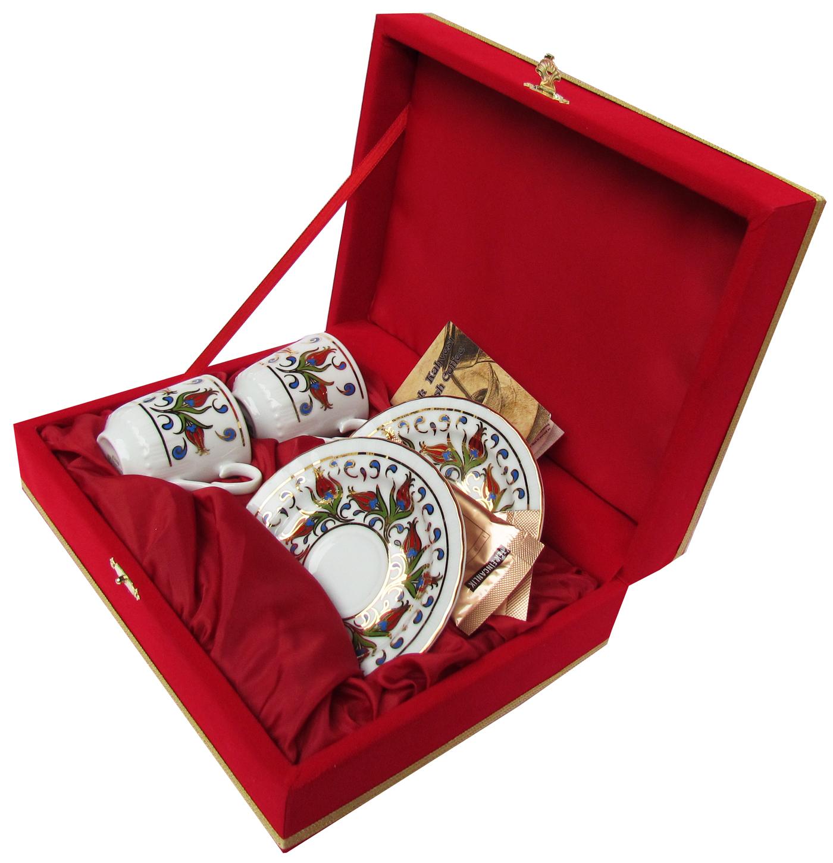 Kırmızı Kutulu İkili Kahve Fincan Setleri