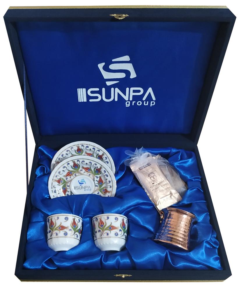 Kadife Kutulu 2 li kahve fincan seti Hediyelik Kahve Fincan Setleri Kurumsal Hediyeler Kutu Kapak İçi Baskılar Sunpa Group