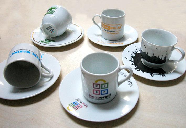 Sade düz beyaz fincana logo resim foto baskı beyaz fincan fiyatları logoluk fincan takımları