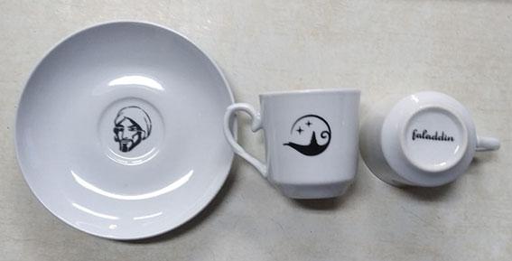 beyaz fincan takımı logo baskılı meşhur falcı faladdin fincanı üretim sonrası bitmiş beyaz kahve takımı tabağa baskı fincan altına baskı fal fincanı  nasıl olur en meşhur fincan falcısı