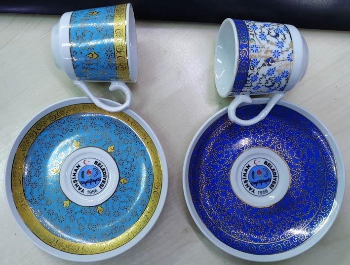 Logolu  kahve fincan takımları