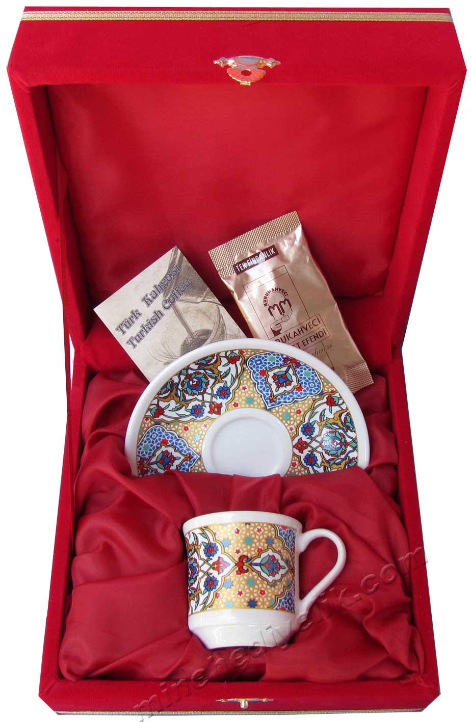 Hediyelik Tek Kişilik kurumsal promosyon Kahve Fincanları Toptan Satış Fiyatları Ekonomik logolu tekli kahve fincan seti kutulu
