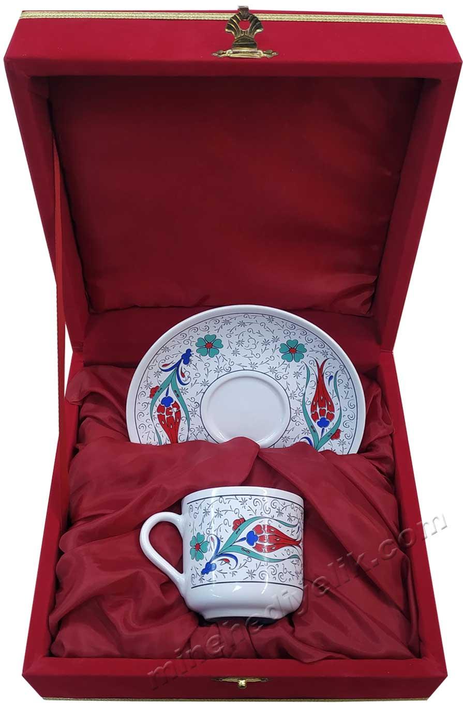Hediyelik Kurumsal promosyon ürünleri Bir kişilik Kutulu Dekoratif Türk Kahvesi Fincan Setleri Hediyelik Tek Kişilik kurumsal promosyon Kahve Fincanları Toptan Satış Fiyatları