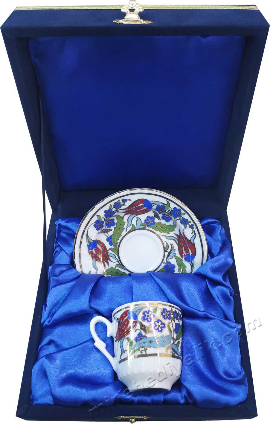 Kurumsal Promosyon Amaçlı Hediyelik Kahve Fincan Setleri Tekli Kutularda Hediyelik Kurumsal promosyon ürünleri Bir kişilik Kutulu Dekoratif Türk Kahvesi Fincan Setleri
