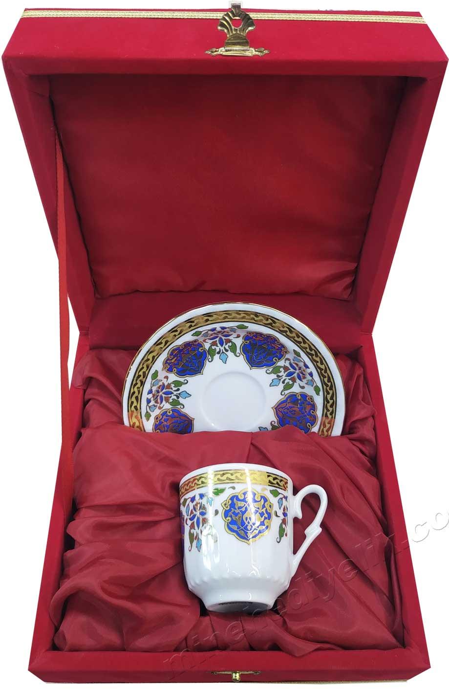 Logolu Promosyonluk Kahve Fincanı Toptan Fiyatları Hediyelik Kurumsal promosyon ürünleri Bir kişilik Kutulu Dekoratif Türk Kahvesi Fincan Setleri Ekonomik logolu tekli kahve fincan seti kutulu