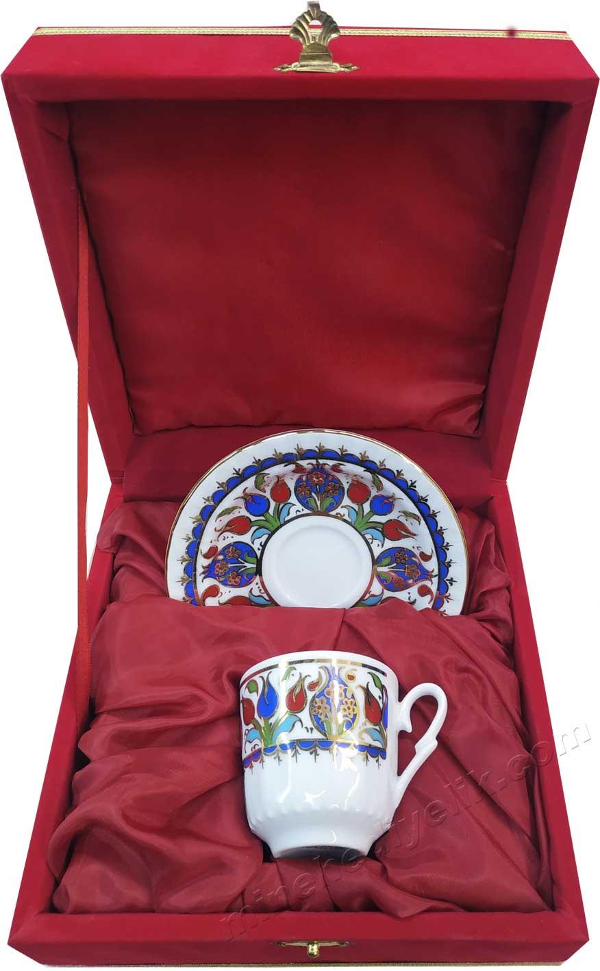 Kadife Kutulu Tekli Kahve Takımı bir kişilik kahve seti Hediyelik Kurumsal promosyon ürünleri Bir kişilik Kutulu Dekoratif Türk Kahvesi Fincan Setleri