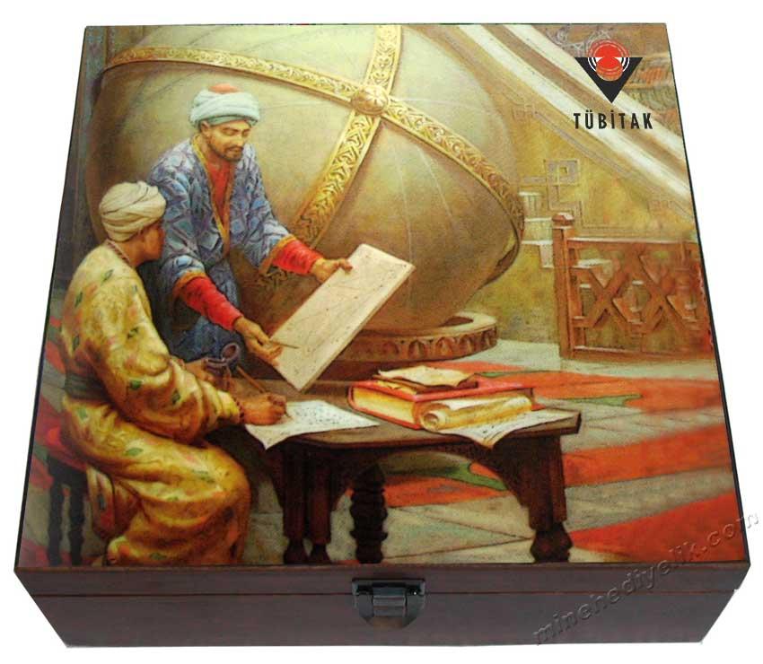 Otantik Kurumsal Logolu Hediyelik  İkili Kahve Fincanı Takımları Osmanlı da Bilim ve Teknik Çalışmaları Rasathane Konulu Görselli kaliteli promosyon hediye ürünleri