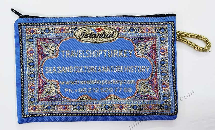 Logo  Dokumalı minik hali tarzi cüzdanlar