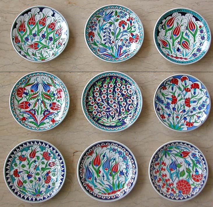 Hediyelik Çini tabak motifleri