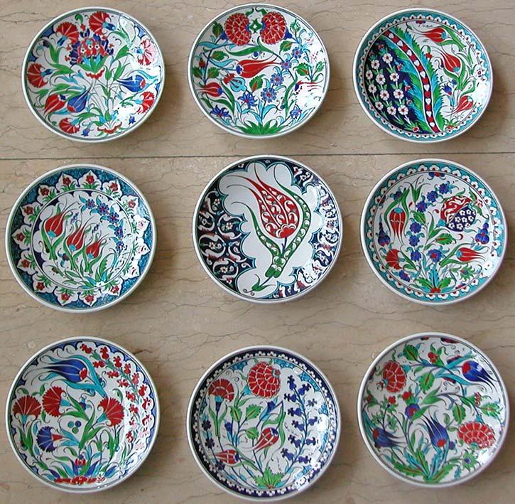 Çini tabak motifleri