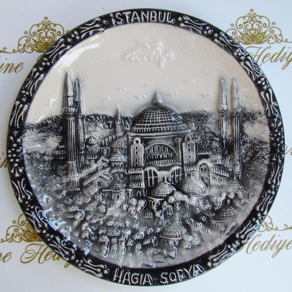 Türkiye İstanbul Hatırası Promosyon Hediyelik  Eşyalar  Uygun Fiyatlı Kutulu ekonomik anlamlı armağanlar çini tabak