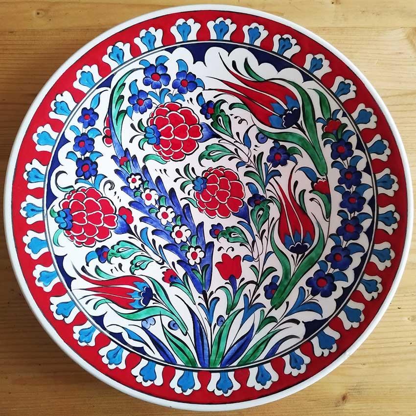 25 cm Turkish Handmade Ceramic Plates
