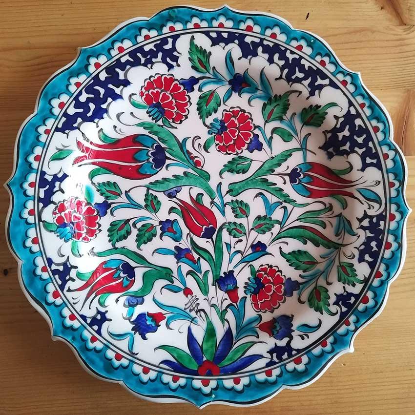 25cm Turkish Handmade Ceramic Plates