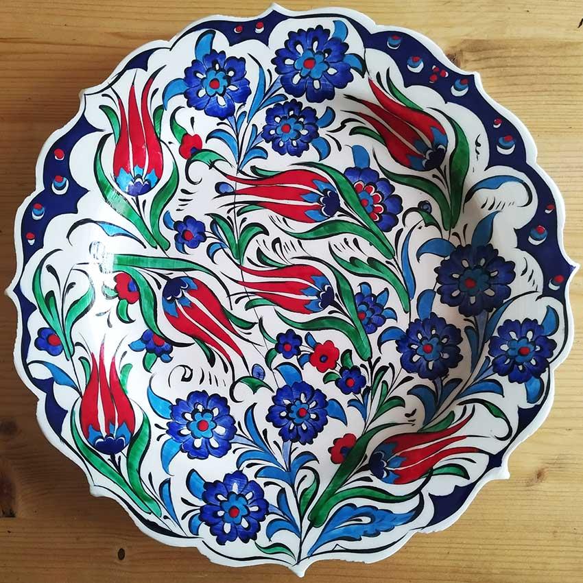 Ottoman Turkish Handmade Ceramic Plates