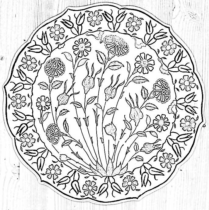 16. Yüzyıl Geleneksel Osmanlı Çini Sanatı İznik Tabakları