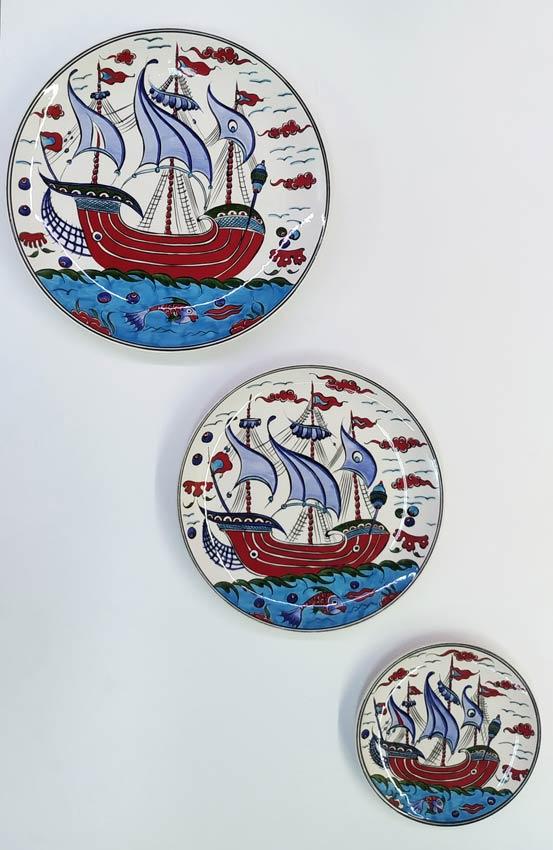 Özel Tasarım Çini Set Duvar Tabakları