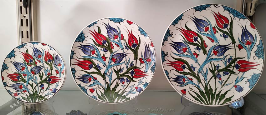 Osmanlı duvar süsü seramik tabaklar