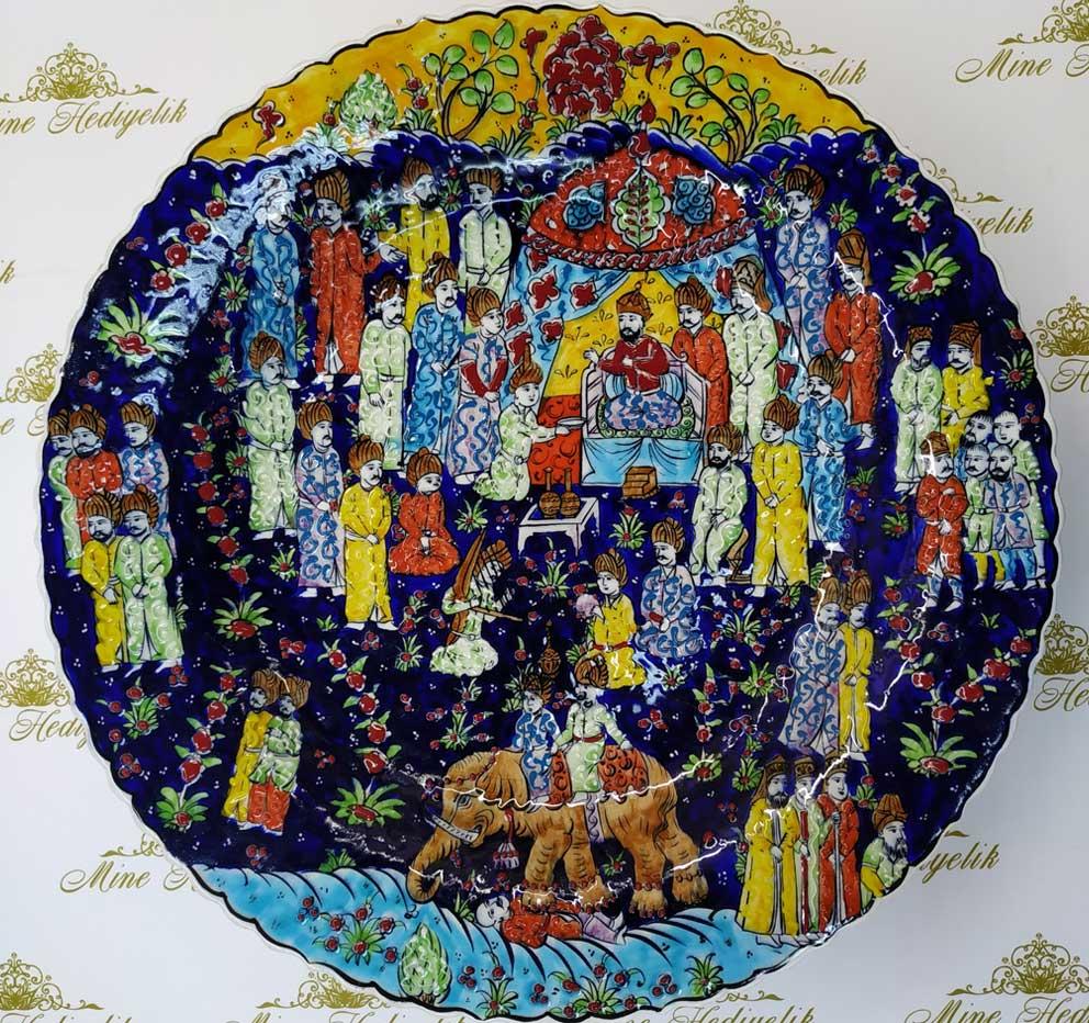 Osmanlı Minyatür Sanatı Çini Tabak Padişah Sosyal Hayatı Hakkında Meşhur Osmanlı Çinileri minyatür sanatı Çini sanatı örnekleri
