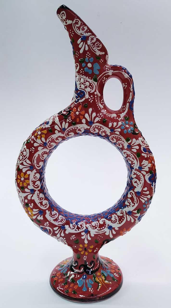 Dekoratif Kutulu Kurumsal Hediyelik  Hitit Tarzı Çini ve Seramik Formlu Vazolar