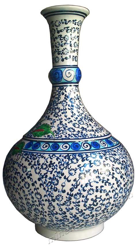 Klasik Haliç Desen İznik Çini Gözyaşı Vazosu Dekoratif Amaçlı Çini Hediyeler  Kutulu vip hediyeleri replika çiniler kadife kutuda çini vazo desenleri çizimi