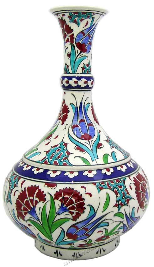 Kurumsal Hediyelik Çini Masa Vazosu Gözyaşı Türk Çini Vazoları, Türk kültürün en güzel örneği çini sanatı hediyelikler kadife kutuda çini vazolar hediye cini vazo hediye çiniler çini vazo desenleri