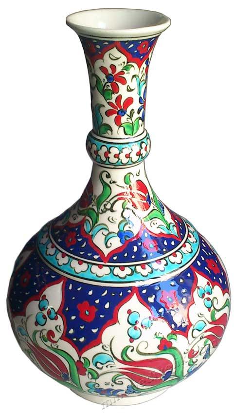 Klasik Osmanlı Haliç Desenli Çini vazolarda çiçek modelleri çeşitleri hediye seramik vazo atölyesi özel imalat kutulu kurumsal hediyelik ürünler kaliteli promosyon hediye ürünleri hediye cini vazo