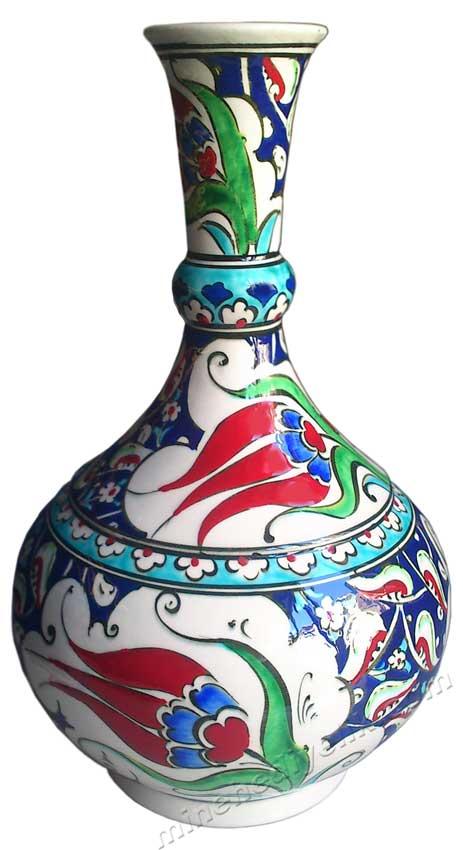 Paha Biçilemez  Kadar Değerli İznik Replika Kalyon Desenli Çini Vazolar Desenleri Örnekleri , Osmanlı Kalyon Motifli Masaüstü Dekorasyon Amaçlı Hediyelikler hediye cini vazo