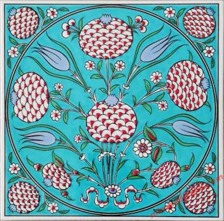 Klasik Osmanlı Çini Nar Desenli Turkuvaz Zeminli Çini Karolar Toplu Hediye Fikirleri ve Kurumsal Promosyon Seçenekleri Hediyelik Dekoratif çiniler