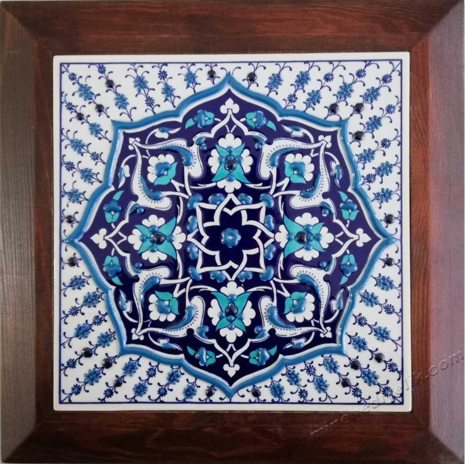 Mavi Beyaz Özel Tasarım Çini Karo