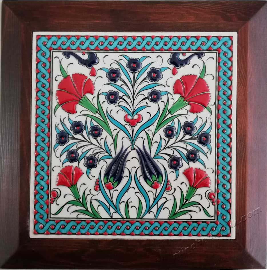 En Güzel Hediye Fikirleri olarak el yapımı iznik çinileri panoları karoları promosyon hediye seçenekleri Hediyelik Dekoratif çiniler