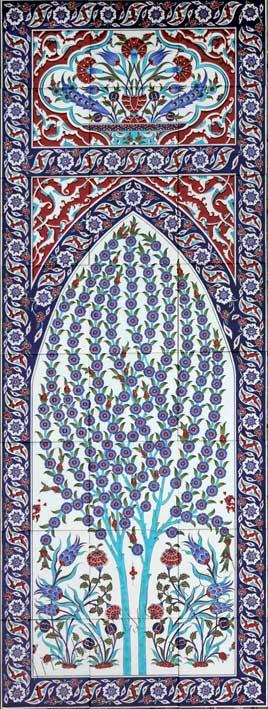 Hayat ağacı Osmanlı saray seramikleri panoları