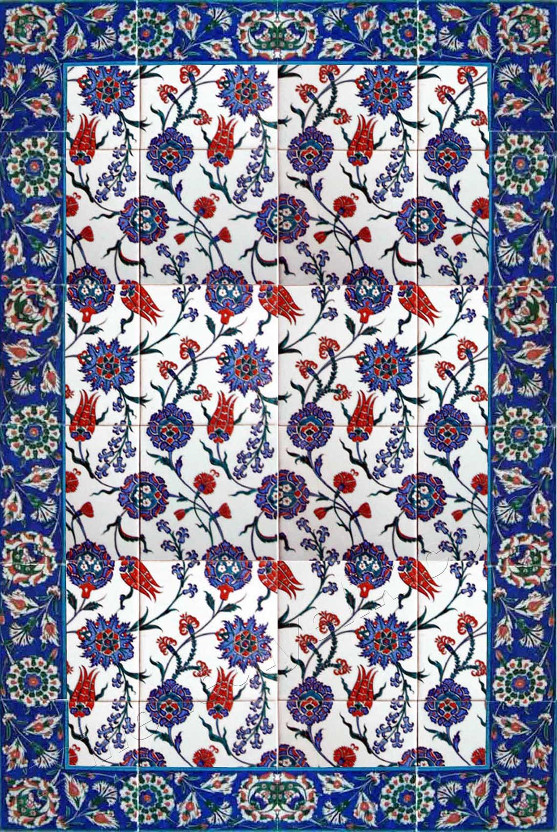 Özel ölçü çini pano imalat atölyesi Kütahya'da en iyi çini ustaları quvars altyapı çiniler laleli Osmanlı İznik mimari saray çinisi özel konut dekorasyonu