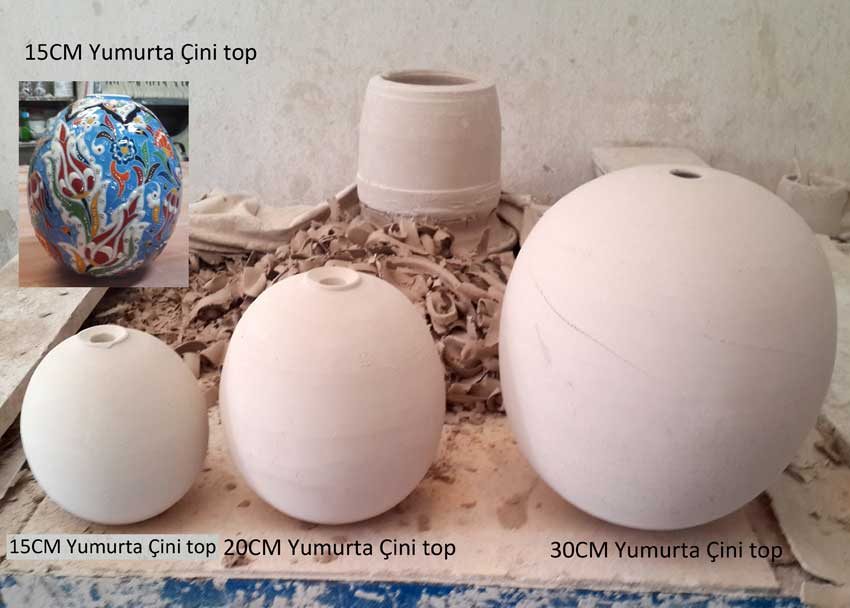 Çini top Ham Çini Bisküviler Çini yumurta Hediyelik çini top, hediyelik çini yumurta