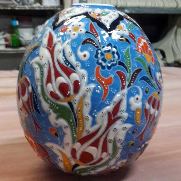 Çini Seramik Toplar ve Yumurtalar Otantik Duvar Tavan Dekoratif Süslemeleri İpli Zincirli Nazar Boncuklu küre