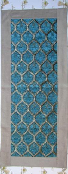 Turkuaz Hediyelik Rannır ve Masa Örtüleri geleneksel osmanlı tekstil örnekleri