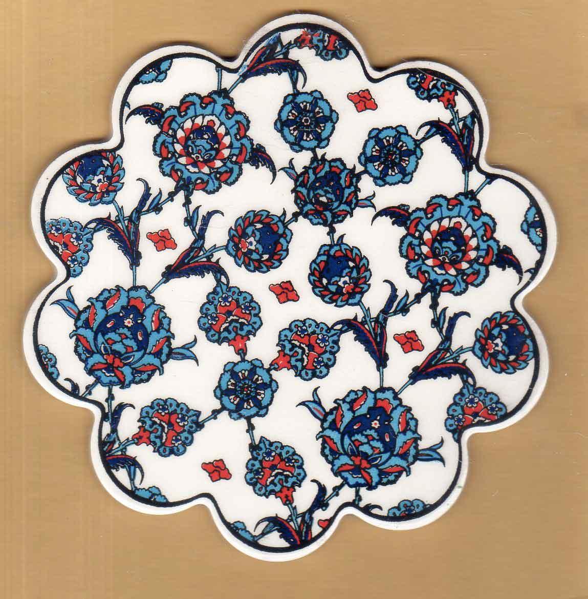 18 cm Seramik Çini Nihale Desenleri