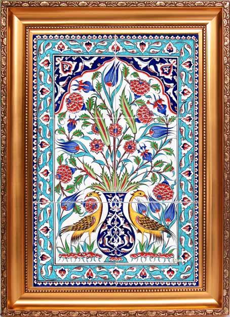El Yapımı Osmanlı Saray  Panoları  Handmade Turkish Tiles and Panels