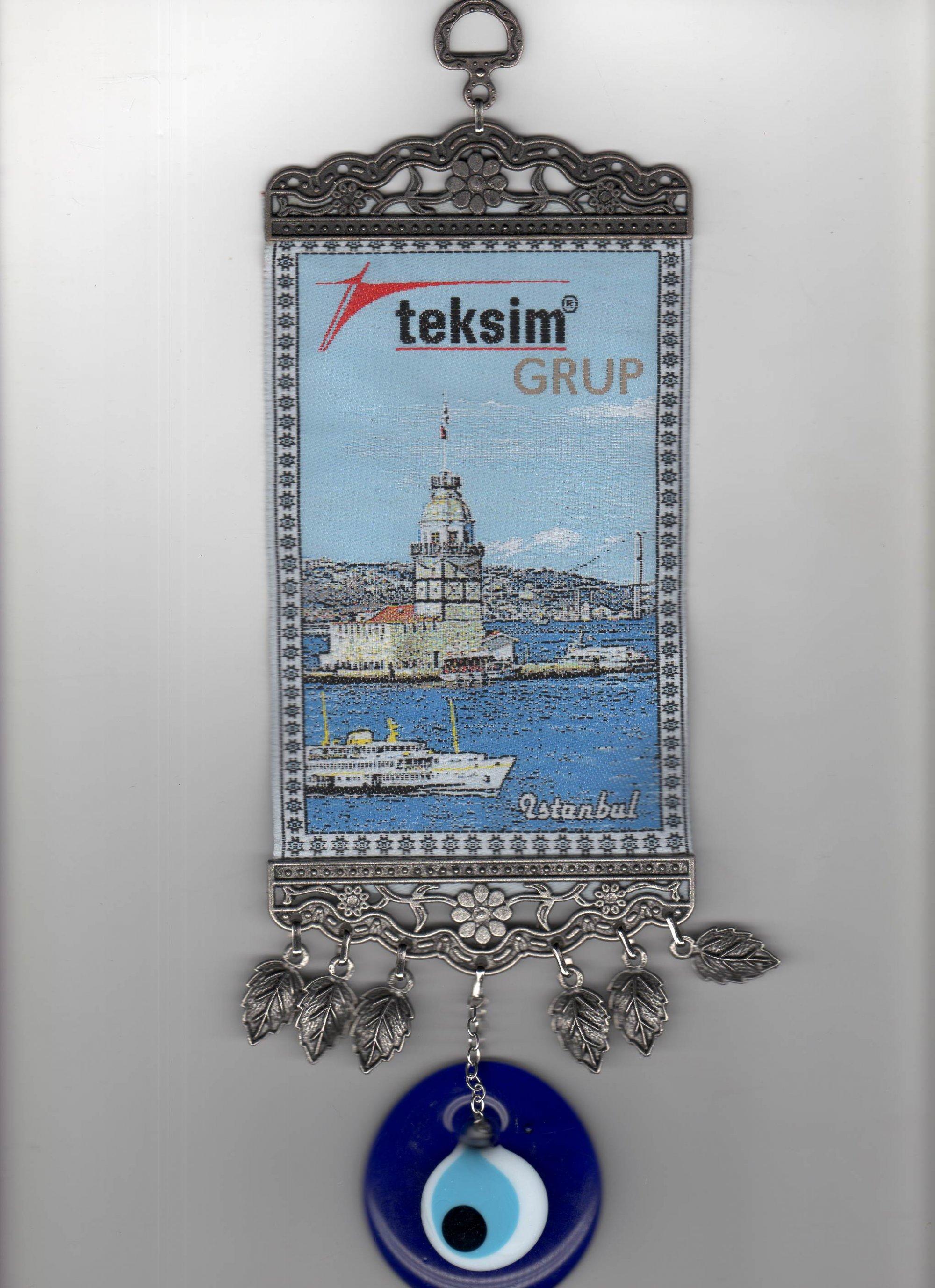Logo Dokumalı Minyatür Halılar Nazar Boncuklu