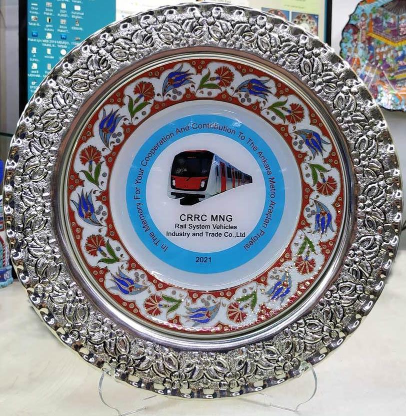 Gümüş Plaket Tabaklar Çinili Gümüşlü Logo Baskılı Vip Protokol Tabak Fiyatları