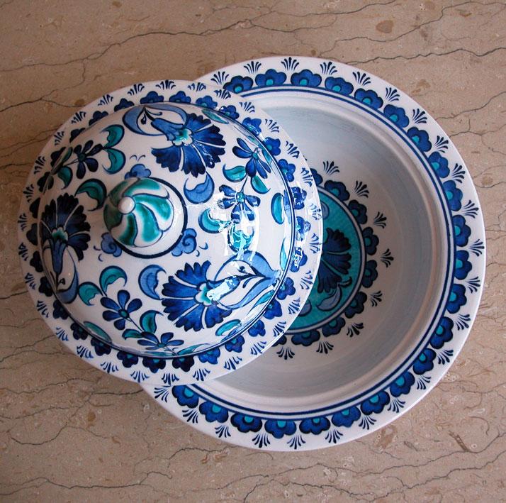 Mavi Beyaz Çini Desenli Lokumluk