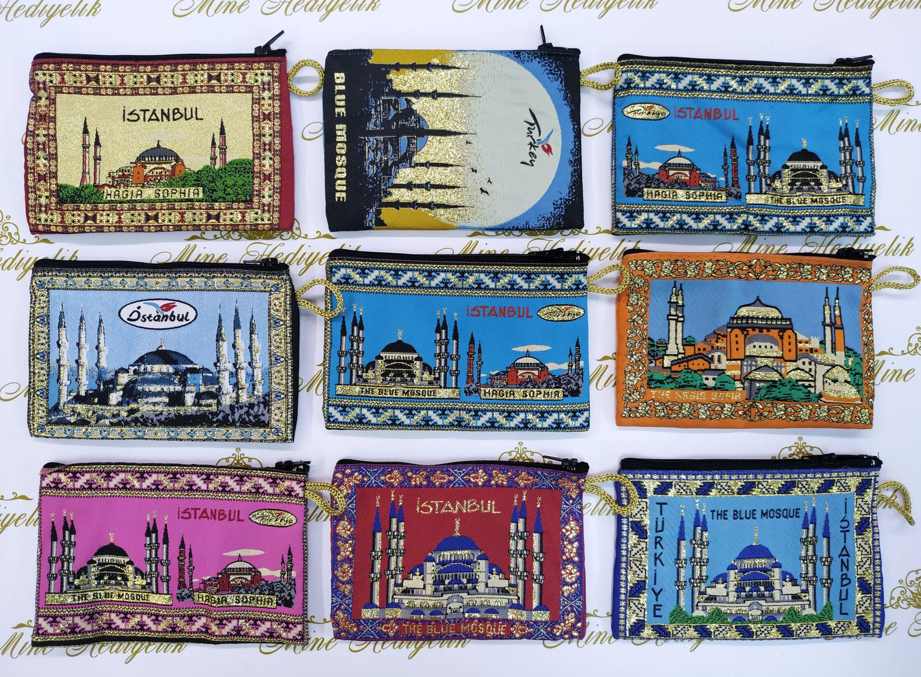İstanbul Türkiye Hatırası Dokuma Cüzdanlar Sultan Ahmet Camili Ucuz Mini Hediyelikler Kurumsal Hediyeler Geleneksel Hediyelik Eşyalar Ucuz Promosyon Ürünleri
