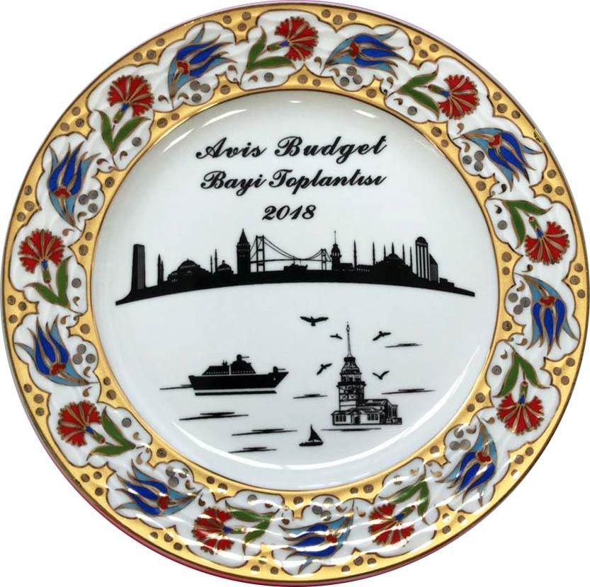 Logo Baskılı Porselen Plaket Tabaklar