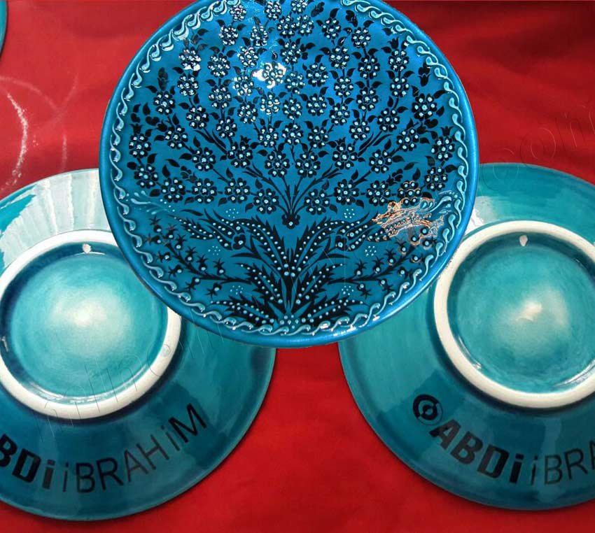 Tabak Arkası Logolu Çini Tabaklar kaliteli promosyon hediyeler kaliteli dekal baskılı Çini sanatı örnekleri.