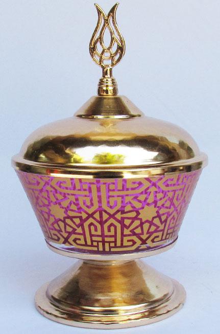 TR301650-14 Selçuklu Yıldız Motifli Mevlana Semazen Başlıklı Osmanlı Gümüş Kaplama Şekerlikler